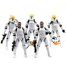 5Pcs Star Wars Clone Pilot TROOPER Revenge Of The Sith 501st hasbro 2005 figures