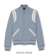 Saint Laurent FW16 Light Baby Blue Teddy Varsity Baseball Jacket Sz 46