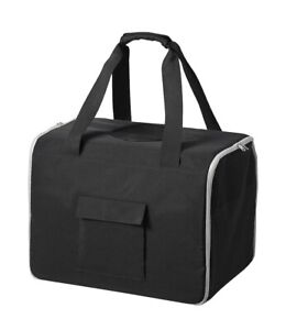Ikea LURVIG Pet travel bag and bed in black, foldable. NEW! 904.648.68