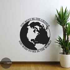 Gandhi Be The Change You Wish To See In The World Vinyl Wall Decal Sticker
