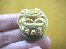 (tb-crab-10) little fresh water marsh crab TAGUA NUT palm figurine Bali carving