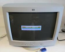 "HP V70S P3902S 16"" CRT Computer Monitor Vintage Retro Gaming 2002 VGA Pavilion"