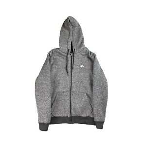 LE Shark Grey Fleece Thick Full Zip Hoodie Size Mens Small