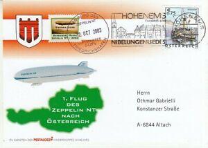 Zeppelin - Luftschiff -  Erstflug Zeppelin NT nach Österreich  2003