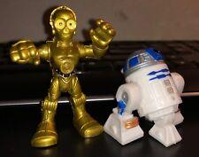 Playskool Star Wars Galactic Heroes C-3PO & R2-D2 Figure Lot New Hope ESB ROTJ