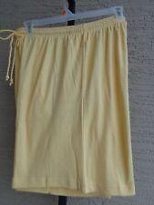 Woman Within Cotton Blend Jersey Knit  Elastic Waist  Shorts 2X 26-28W Yellow