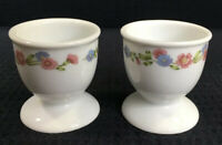 Vintage Pair Of Egg Cups S P CoImbra One With Hairline Crack Made In Portugal