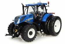 UNIVERSAL HOBBIES 1:32 TRATTORE NEW HOLLAND T7.225 TRACTOR BLU BLUE  ART 4962