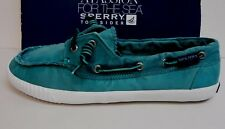 Sperry Top Sider Size 6 Green Washed Out Boat Shoes New Womens