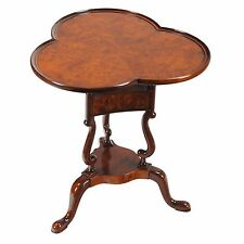 NSI149, Niagara Furniture, Burled End Table, Queen Anne End Table, Wine Table