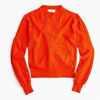 New Demylee™ X J.Crew Long-Sleeve Pointelle Sweater Size Small MSRP $160