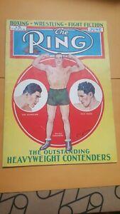 Vintage Ring Boxing Magazine. June 1933. Carnera, Schmeling, + Baer Cover.