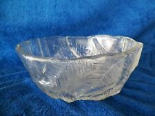 "TRIFOOTED GLASS BOWL 8.5"" X 7"" AND 4'' TALL"