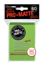 SMALL Ultra Pro Matte (60 Ct) - LIGHT GREEN - SLEEVES Size Card  YUGIOH 84272