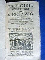 ESERCIZI SPIRITUALI DI S. IGNAZIO - VENEZIA PRESSO COMBI E LA NOU' 1699