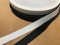 Flat Elastic Black or White 20mm 25mm x 1m or 5m Sewing Crafts AUSSIE SELLER