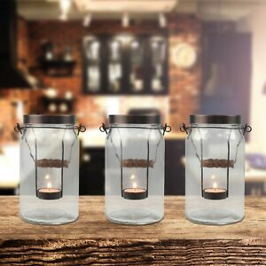 NEW Better Homes & Gardens Jar Tealight Candle Holders - Set of 3 - Farmhouse