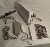 Nintendo Wii White Console RVL-001 Bundle w/ Monster Hunter 3