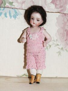 """Antique Doll CHEMISE Pantalette for 4 - 4.5"""" Bisque Miniature Picolette"""