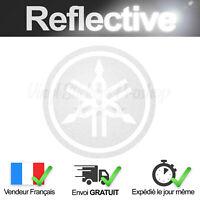 Sticker Logo YAMAHA BLANC Rétro-Réfléchissant 7cm Adhésif Moto Reflective decal