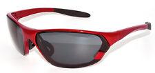 Evolution Blaze Lunettes de soleil Sport Large visage rouge & Fumée Lentille Golf Cyclisme Eyewear