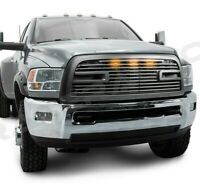 Big Horn 2+LED Matte Black Replacement Grille+Shell for 10-18 Dodge RAM 2500+HD