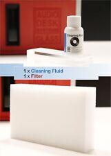 GLÄSS AUDIO DESK 1x CLEANING FLUID Reinigungskonzentrat + Filter   Vinyl Cleaner