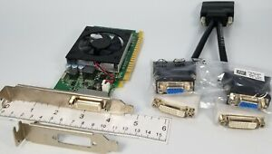 Nvidia Geforce 605 1GB Dual VGA DVI Monitors Windows 10 PCIe SFF ATX Video Card