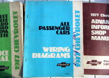 1977 CHEVROLET ALL PASSENGER CARS WIRING DIAGRAMS