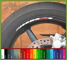 12 x HONDA VFR Wheel Rim Stickers Decals - 750f 800f 400 nc30 1200 nc24 vtec (B)