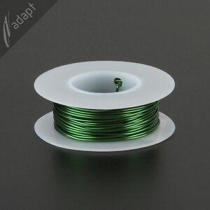 Magnet Wire, Enameled Copper, Green, 19 AWG (gauge), 155C, 1/8 lb, 32ft