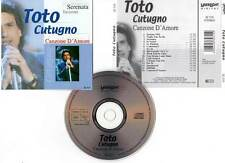 """TOTO CUTUGNO """"Canzone D'Amore"""" (CD) 2003"""