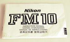 NIKON FM 10 MANUAL
