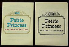 VINTAGE 1964 IDEAL PETITE PRINCESS DOLLHOUSE MINIATURE B&W COLOR CATALOG BOOKLET