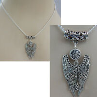 Necklace Angel Pendant Wings Cross Jewelry Chain Silver Women Fashion Wing New