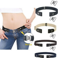 Invisible Lazy Buckle-Free Elastic Waist Belt Stretchy Women Men Jeans Pants Hot