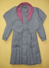 Vtg SB II Gray Warm Winter DOWN WINTER JACKET Puffer Trench Coat Sz Women LARGE