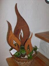 Flamme in Edelrost zum Einstecken verschiedene Größen wählbar