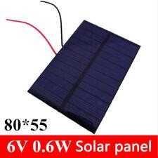 Chargeur cellules photovoltaïque polycristallin 6v 100ma 0.6w panneau solaire RO