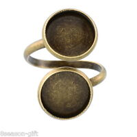 Gift Wholesale Bronze Tone Adjustable Spiral Ring Pad Bases Blanks Findings