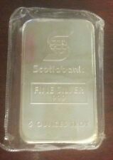 Rare Johnson Matthey 5 oz 999 Silver Bar with Scotiabank logo, Serial # 004016