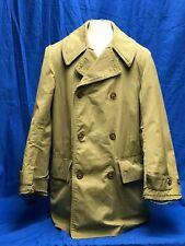 Vintage WWII US Army Mackinaw Jeep Jacket Coat w/Wool Lining Size 34R 28180