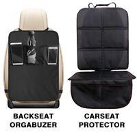KICK MAT CAR SEAT PROTECTOR COVER 3 MESH POCKETS TOY STORAGE ORGANISER KIDS BABY