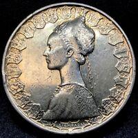 Italy 500 Lire 1958 R ~ Silver- KM#98 Columbus Ship Coin.