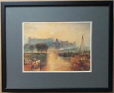 Windsor Castle from the Thames by Turner, 20'' x16'' - framed Turner wall art