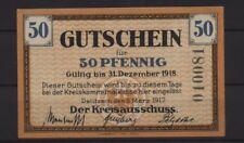 [19167] - Notgeld Delitzsch, círculo, 50 PF, 09.03.1917, Tieste 1325.05.01v (= EUR