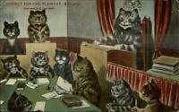 Louis Wain Cat Fantasy Jury Verdict For Plaintiff c1910 Postcard