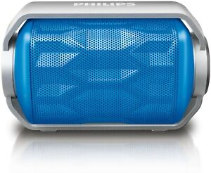 Philips BT2200R Splash Resistant Portable Bluetooth Stereo MP3 MP4 Speaker Blue