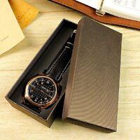Holder Jewelry Watches Unisex Men Single Watch Box Case Storage Wristwatch NEWLY
