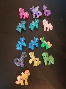 My Little Pony  FiM loose blind bag Mini Figures Lot Of 13 glitter translucent